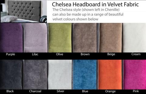 Chelsea Velvet Headboard
