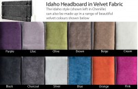 Idaho Velvet Headboard