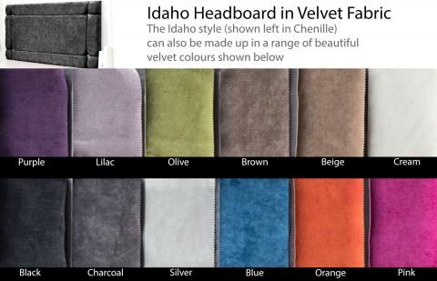 Idaho Velvet Headboard