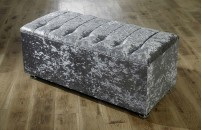 *NEW* Ottoman Storage Blanket Box in Crushed Velvet
