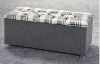 *NEW* Ottoman Storage Blanket Box Plaid
