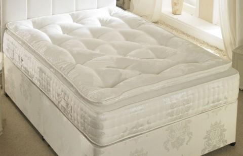 1500 Pocket Spring 12 inch Luxury Organic Pillow Top Mattress