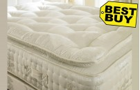 2000 Pocket Spring 30cm Organic Pillow Top Mattress High Specification