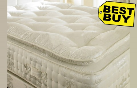 2000 Pocket Spring 30cm Organic Pillow Top Mattress High Specification