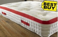 1500 Pocket Sprung Pillow Top 25cm Tufted Aloe Vera Mattress with Memory Foam
