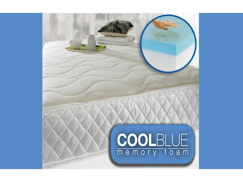 Next Day Cool Blue Memory Foam Coil Sprung Mattress