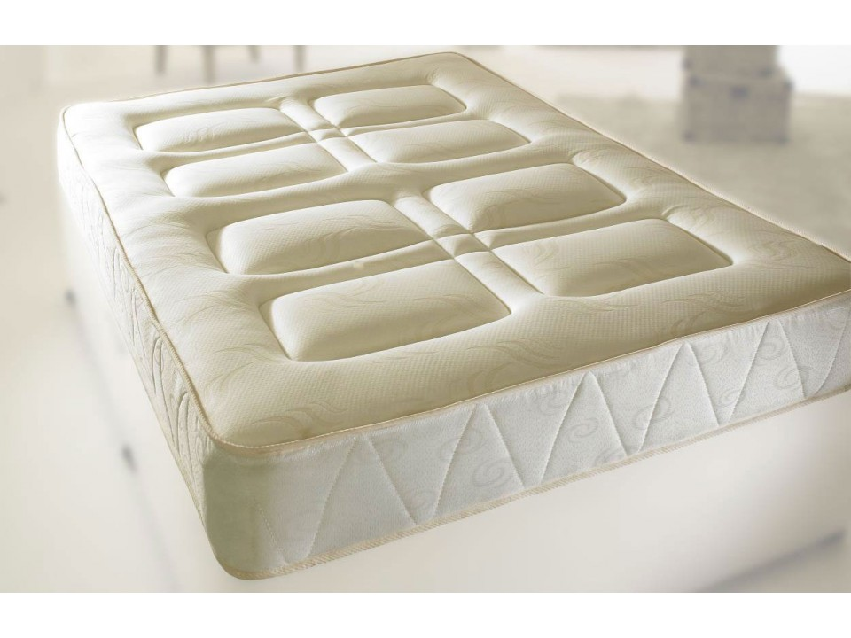 Next Day Coil Sprung Breathable Quilted Mattress With Memory Foam