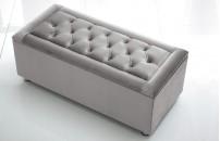 *Belvedere* Ottoman Storage Blanket Box Plush Velvet