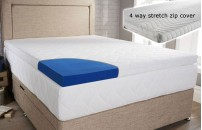 Blue Cool Laygel Foam Mattress Topper With Cover