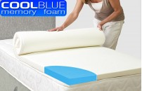 Cool Blue Memory Foam Mattress Topper With Cover
