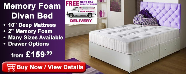 Divan beds cheap beds factory direct fast free delivery for Cheap single divan bed and mattress