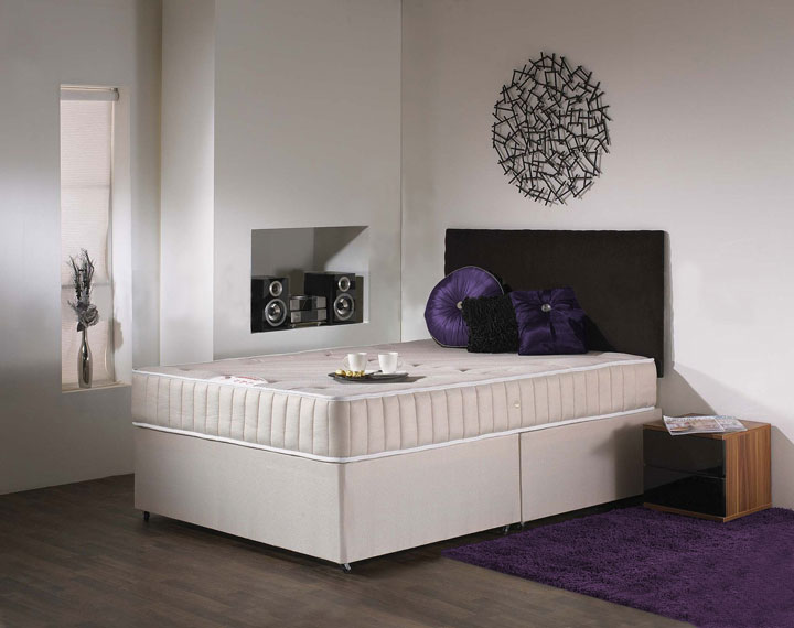 Deluxe memory foam divan and mattress set fast delivery for Divan bed quick delivery
