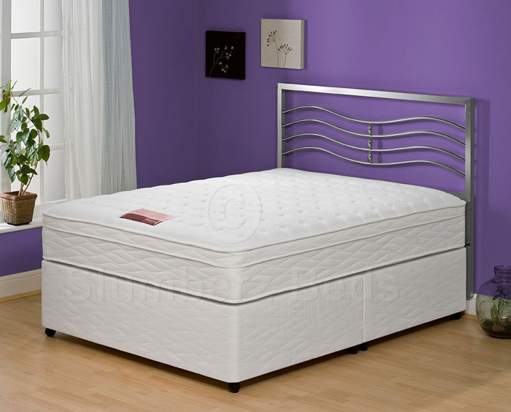 Exclusive divan bed pillow top memory foam mattress for Exclusive beds