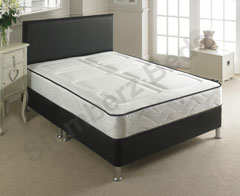 Chianti Black Leather Bed Frame