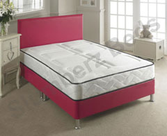 Chianti Red Leather Bed Frame