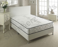 Chianti White Leather Bed Frame