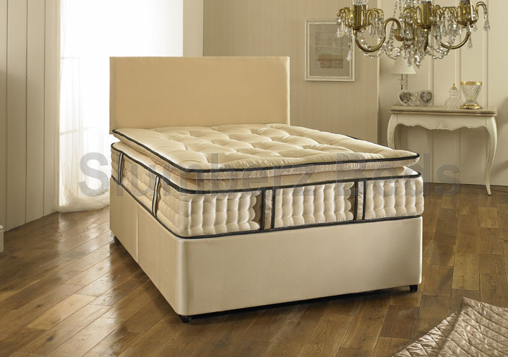 Divan Bed and 2000 Pocket Pillow Top Mattress 2V