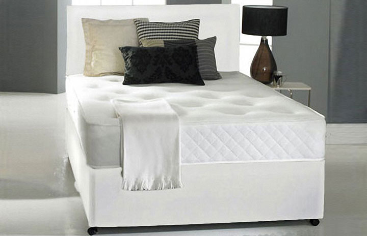 Promo coil sprung double or kingsize divan memory foam for Divan bed quick delivery