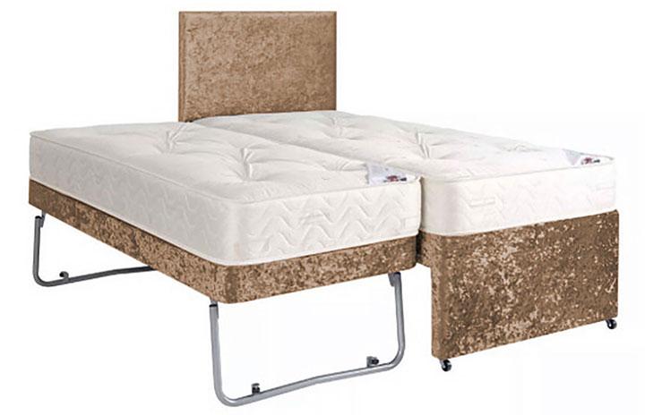Div05H0 Guest Bed Sleeper In Crushed Velvet Brown