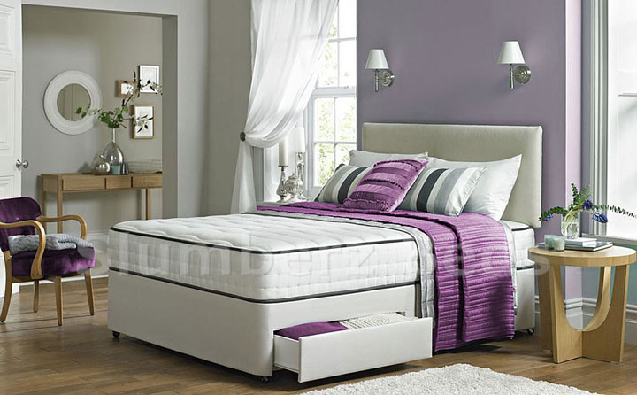 200 Pocket Divan Bed and Memory Foam Mattress 2AD