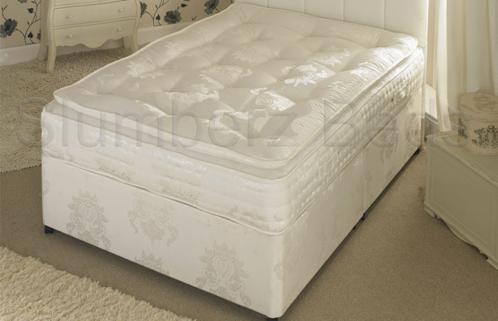 1500 Pocket Divan Bed and Pillow Top Memory Foam Mattress 2AF