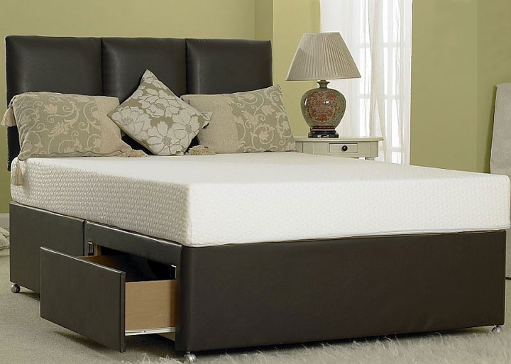Divan base faux leather for King size divan bed without mattress