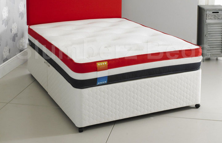Dual Season Airflow Divan Bed and Memory Foam Mattress 2N