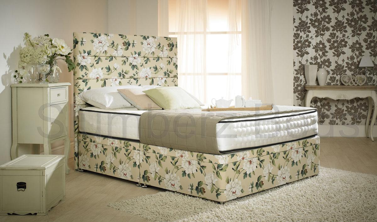 style divan bed ocean teal 1500 pocket spring memory foam. Black Bedroom Furniture Sets. Home Design Ideas