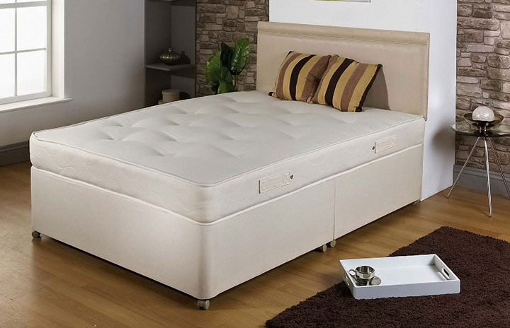 1000 Pocket Sprung Divan Bed and Mattress Set 2P