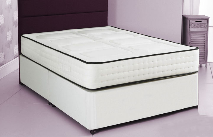 2000 Pocket Divan Bed and Memory Foam Mattress 2Q
