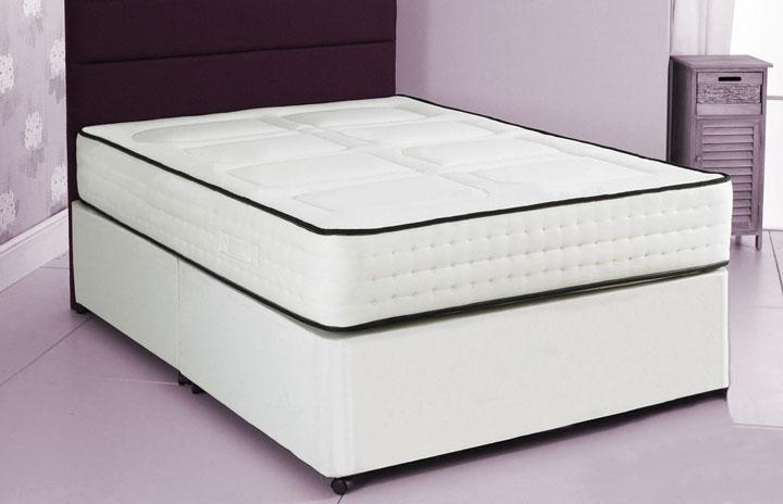 2000 Pocket Divan Bed and Memory Foam Mattress 2Q