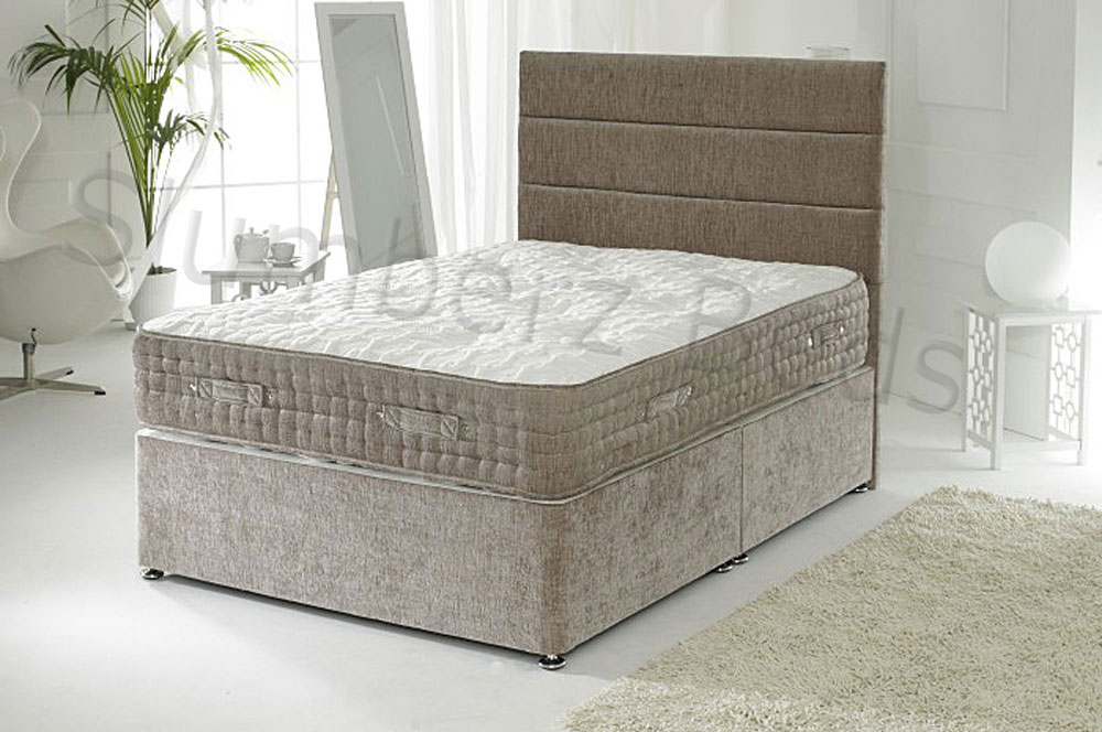 connoisseur collection luxury divan bed with 3000 pocket. Black Bedroom Furniture Sets. Home Design Ideas