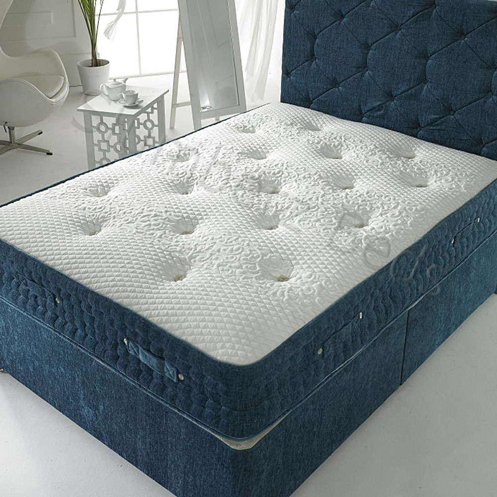 Connoisseur Collection Divan Bed With 4000 Pocket Spring Organic Mattress