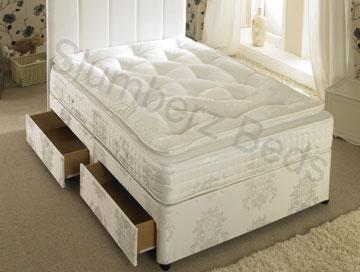 Divan Bed and 1500 Pocket Pillow Top Memory Foam Mattress 2U