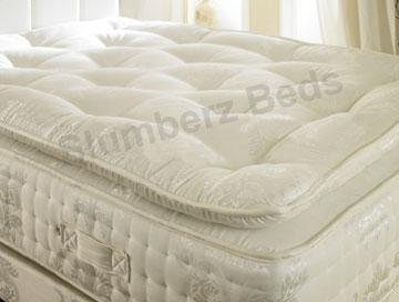 1500 Pocket Pillow Top Memory Foam Mattress Divan 2U