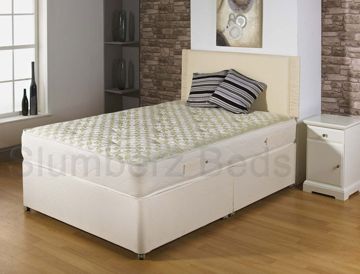 Divan Bed with Memory Foam Mattress 2D