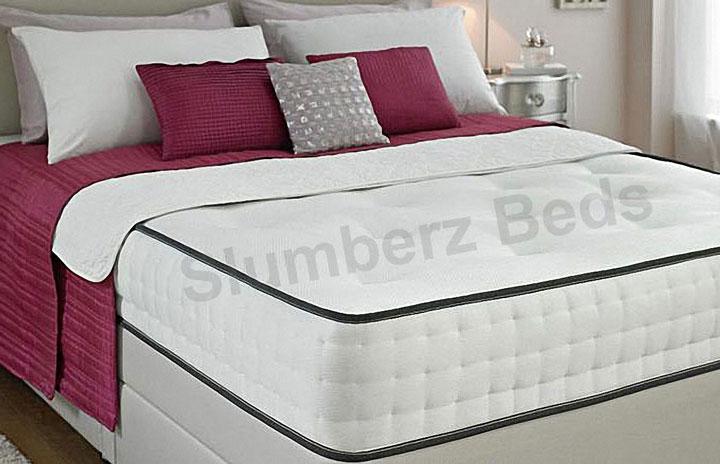 1500 Pocket Divan Bed and Memory Foam Mattress 2X