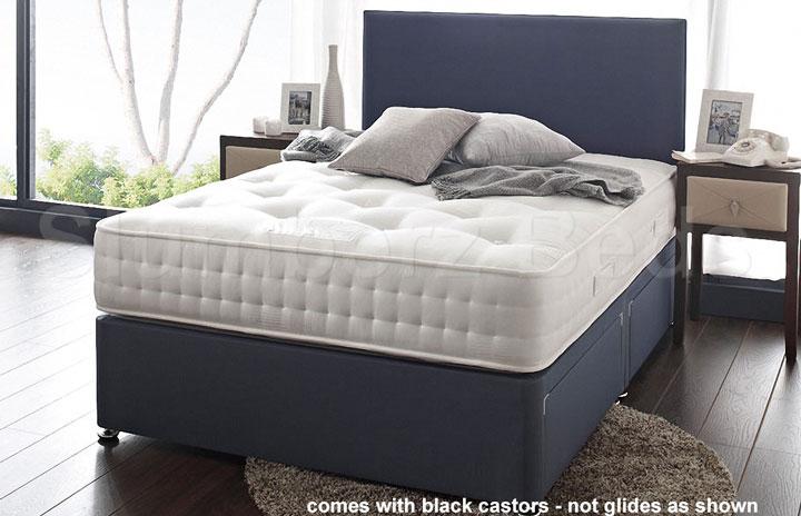 1500 Pocket Divan Bed and Memory Foam Mattress 2Y