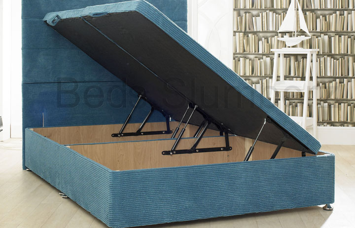 Ottoman-Ocean Ottoman Storage Bed In Ocean Fabric Teal