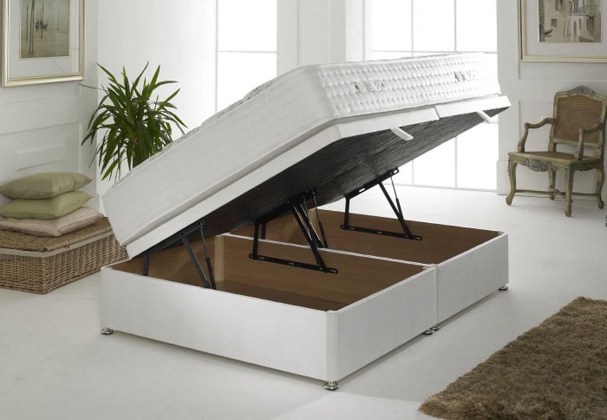 Picture of: Ottoman Storage Double Or Small Double Divan Base In Cotton Cover Free Delivery