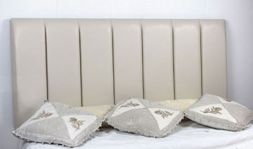 Durham Faux Leather Headboard Cream
