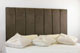 Durham Faux Suede Headboard Brown