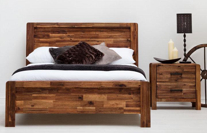 Charlwood Rustic Wooden Bed Frame Java-1