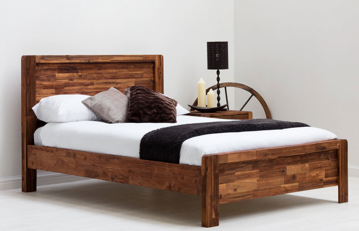 Charlwood solid wood bed for Strong wooden beds