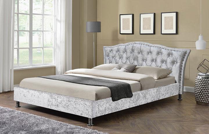 Grayson Italian Designer Bed Silver1