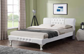 Kingsley Regal Style Designer Bed Frame White-1