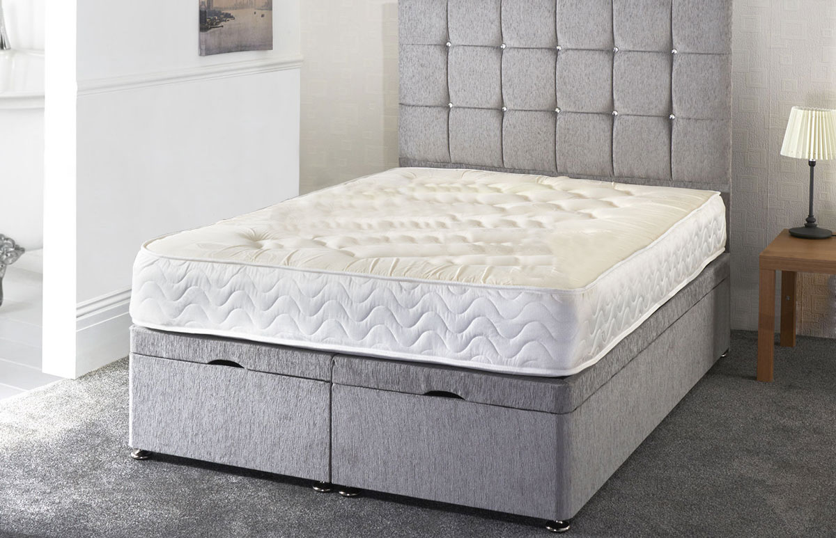 Okehampton Chenille Ottoman Storage Bed