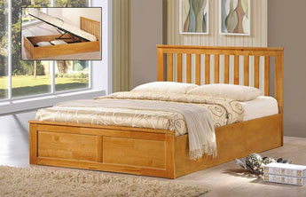 Oxford Oak Or White Solid Wood Ottoman Storage Bed Oak