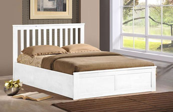 Oxford Oak Or White Solid Wood Ottoman Storage Bed White