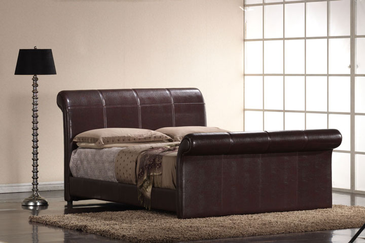 Waltham Faux Leather Bed Frame